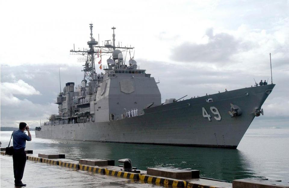 """原创 逝去的舰艇,""""文森斯""""号导弹巡洋舰有多强?最多备弹可达122枚!"""