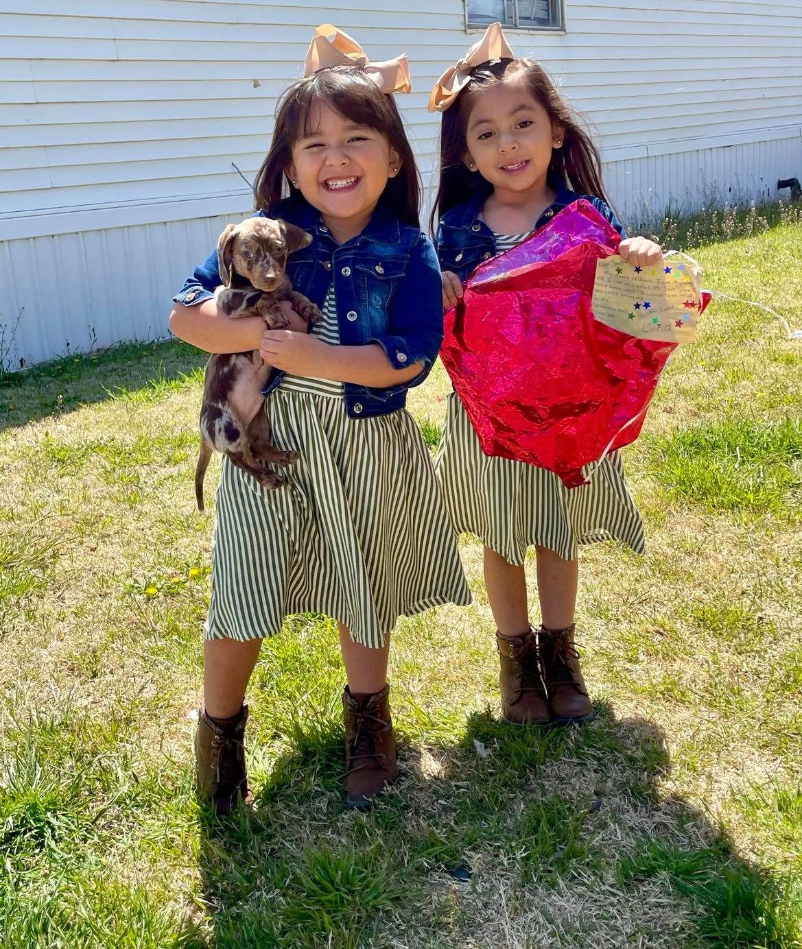 Stranger Gifts 4-Year-Old Twins a Puppy After Finding Balloon Containing Their Gift Wish List