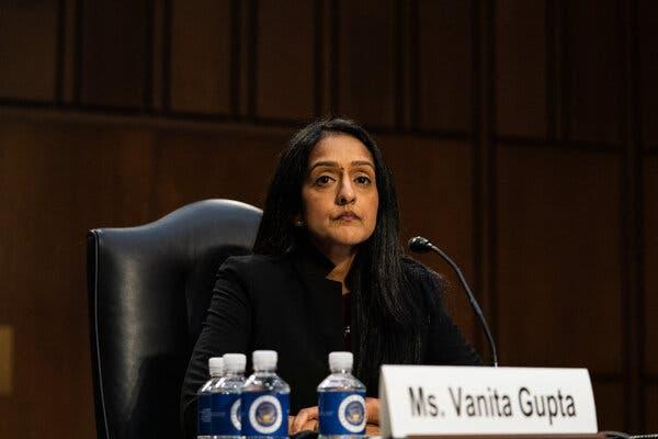 Senate Democrats, joined by Lisa Murkowski, confirm Vanita Gupta, and other (nonclimate) news from Washington.