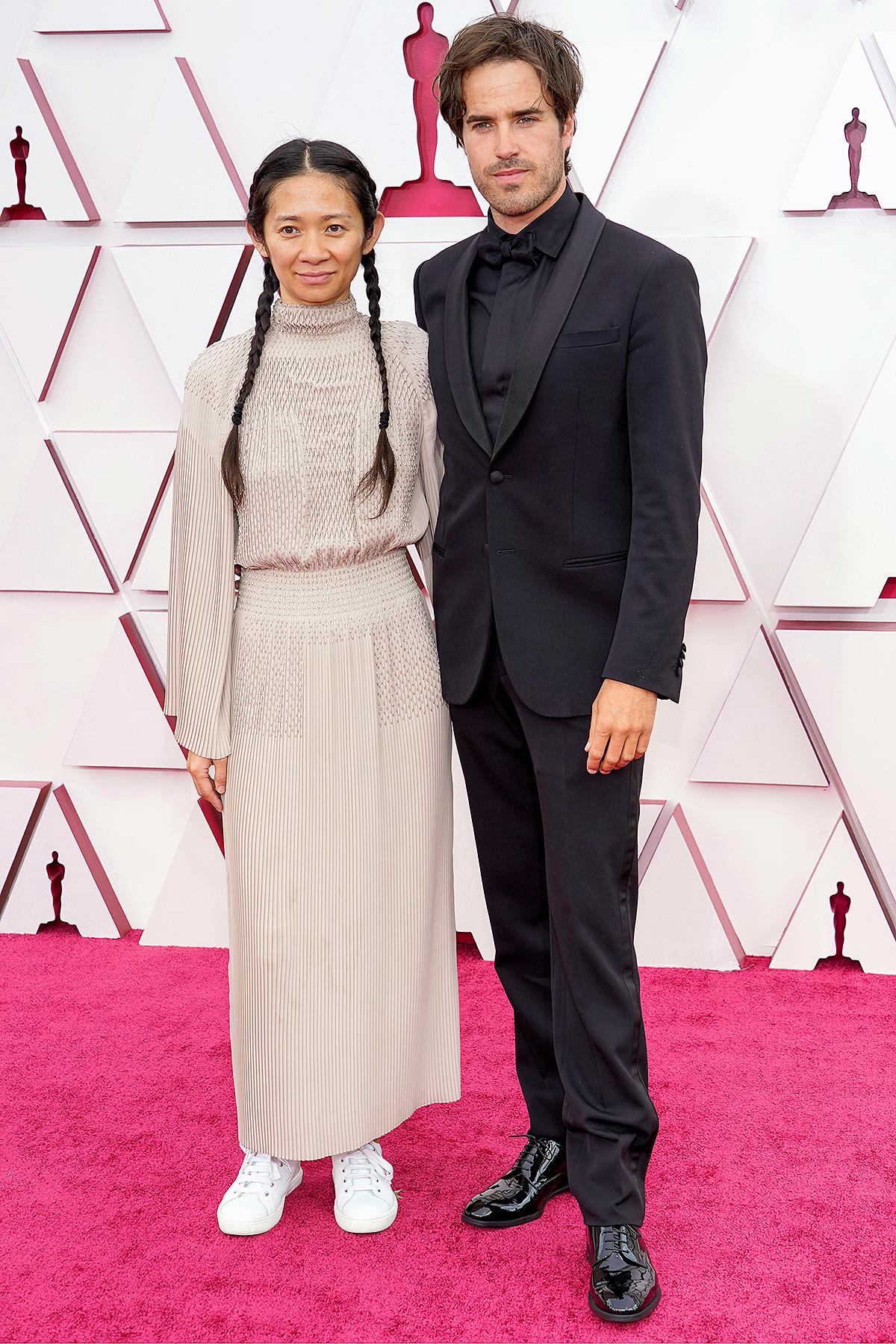 Nomadland Director Chloé Zhao Attends Oscars with Film's Cinematographer Joshua James Richards