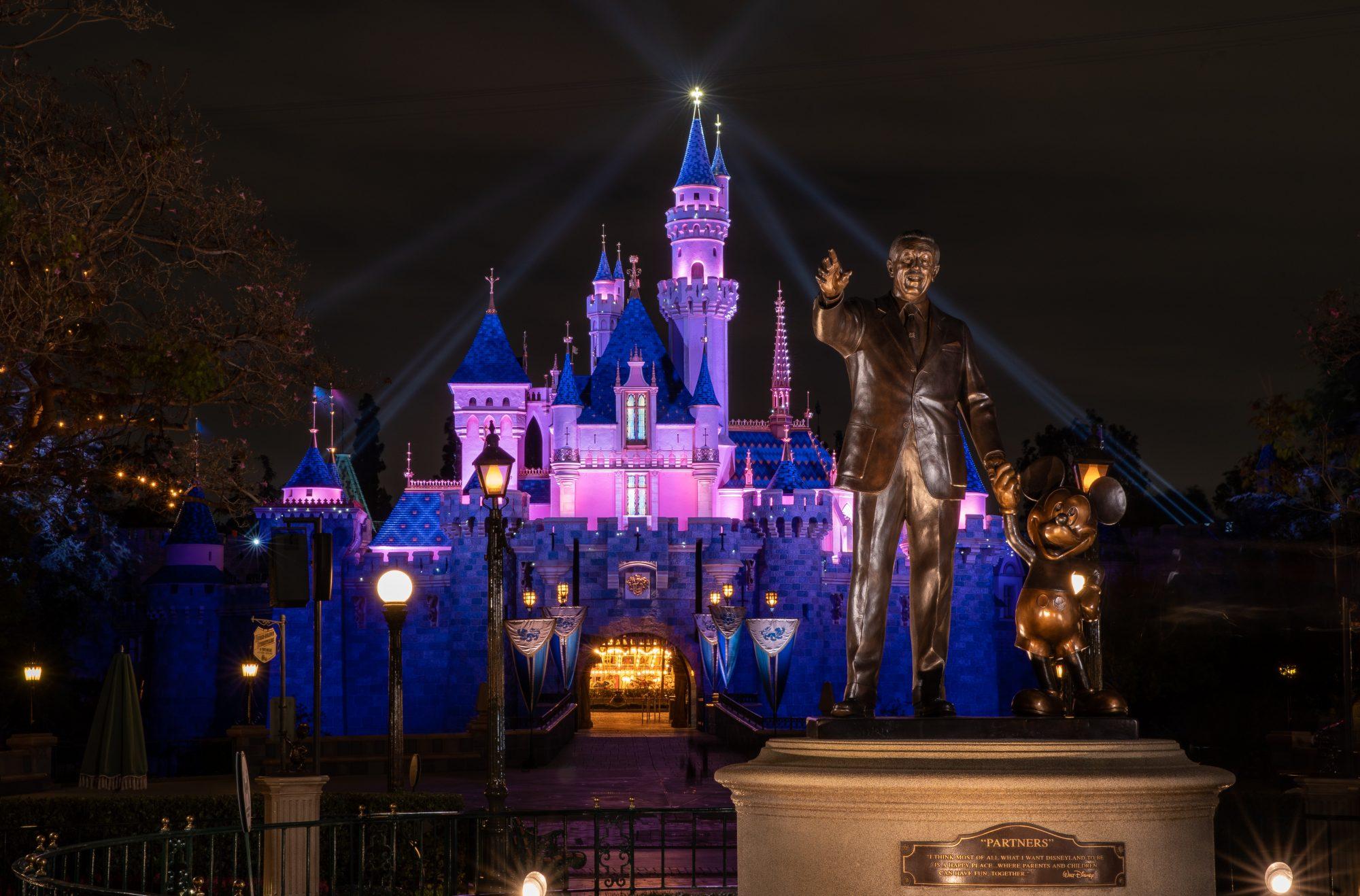 Watch the Magical Moment Disneyland Lights Up Sleeping Beauty Castle After a Year-Long Shutdown