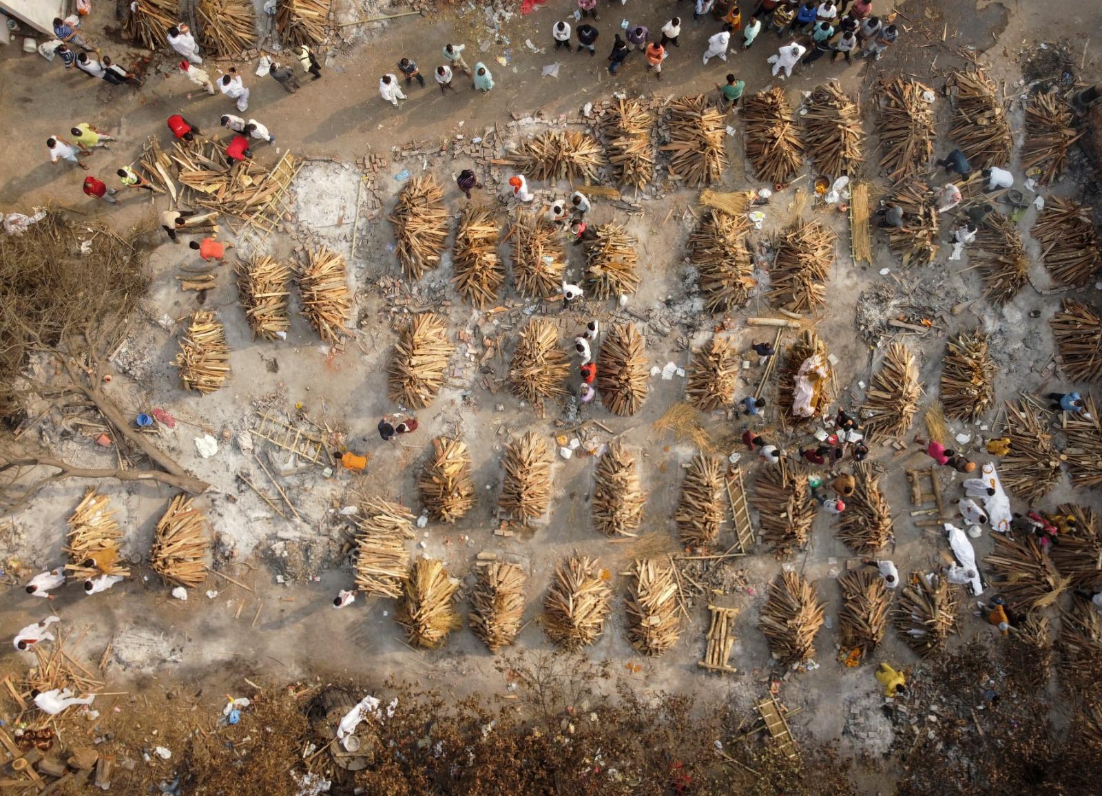【冠状病毒19】印度停车场成临时火化场 公园树木被砍当柴烧