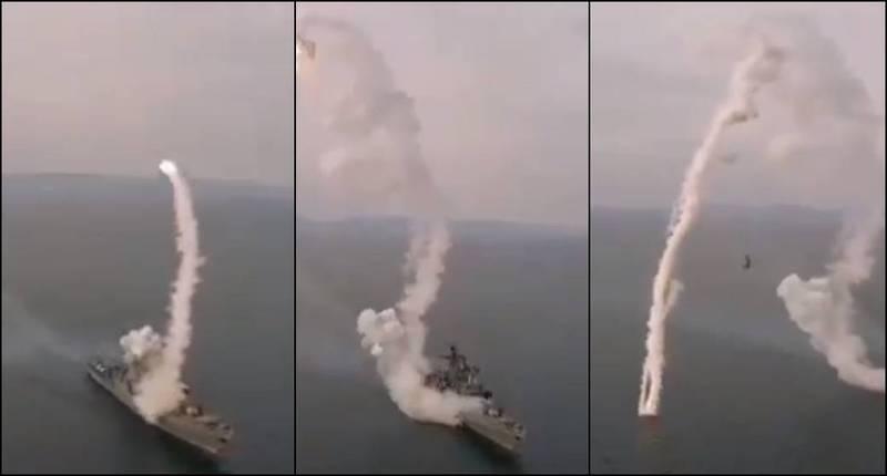 罕见惊人视频:俄军导弹发射后失控 打着滚原地坠落…