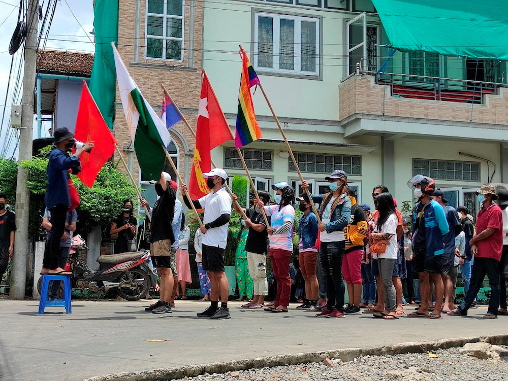 Myanmar protesters raise voices to 'shake the world'; more mystery blasts