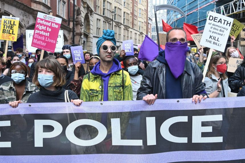 Nine arrested in London protests against greater police powers
