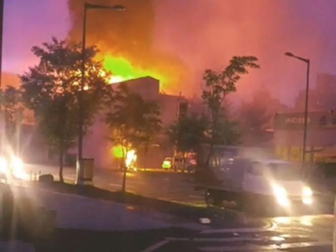 南韩大田市变电站爆炸 附近6.4万户停电2个半小时