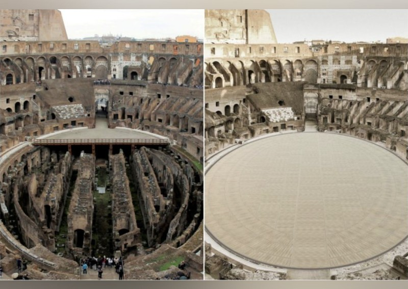 New hi-tech floor design for the ancient Roman Colosseum