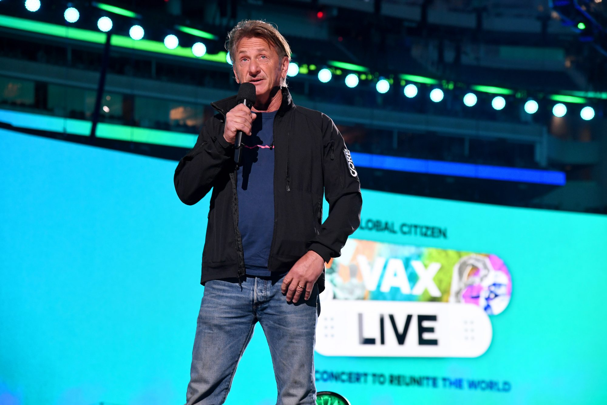 Sean Penn and Wife Leila George Have a Date Night at VAX Live Event Taping