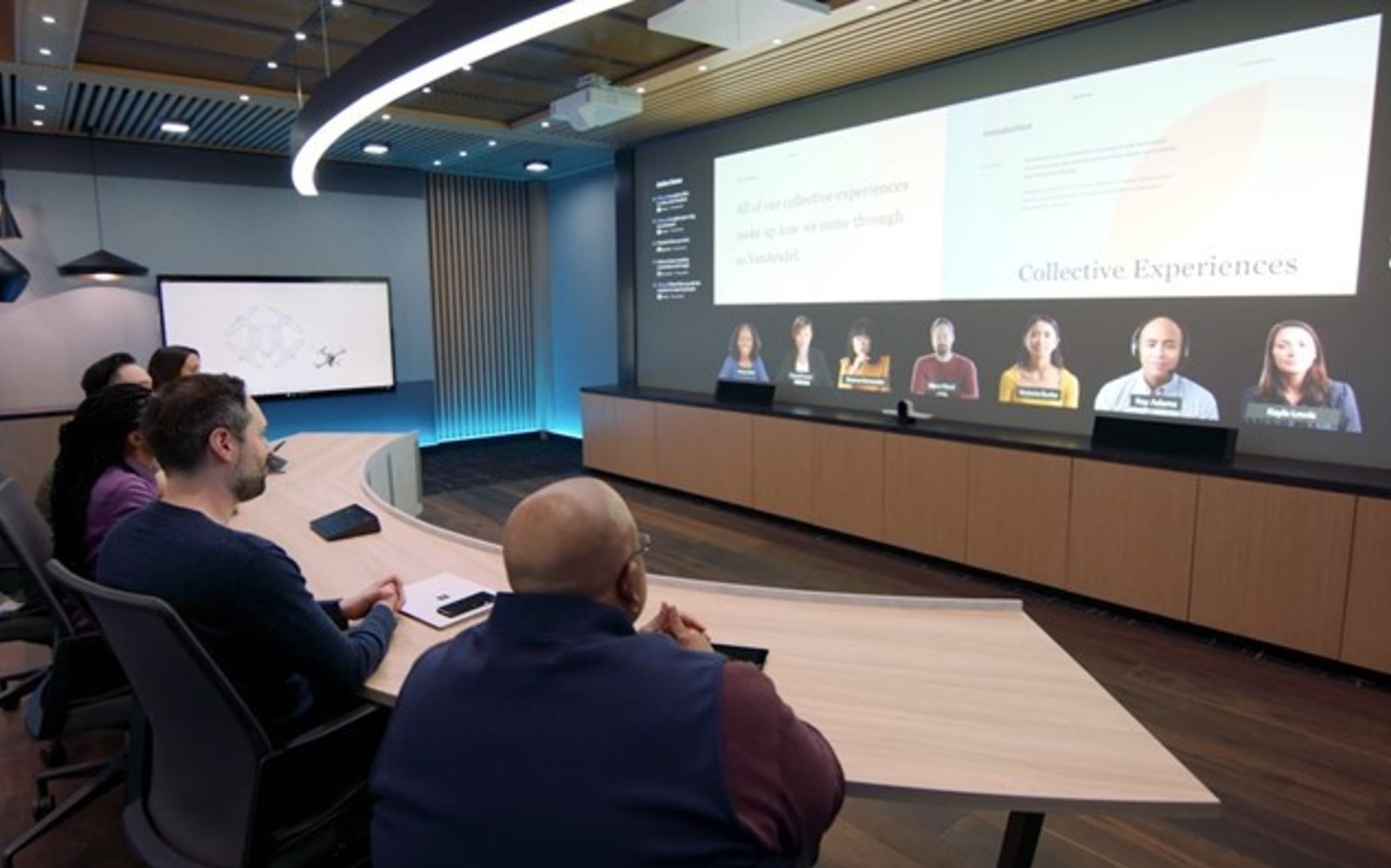 Microsoft's plan to improve meeting rooms includes larger displays and spatial audio