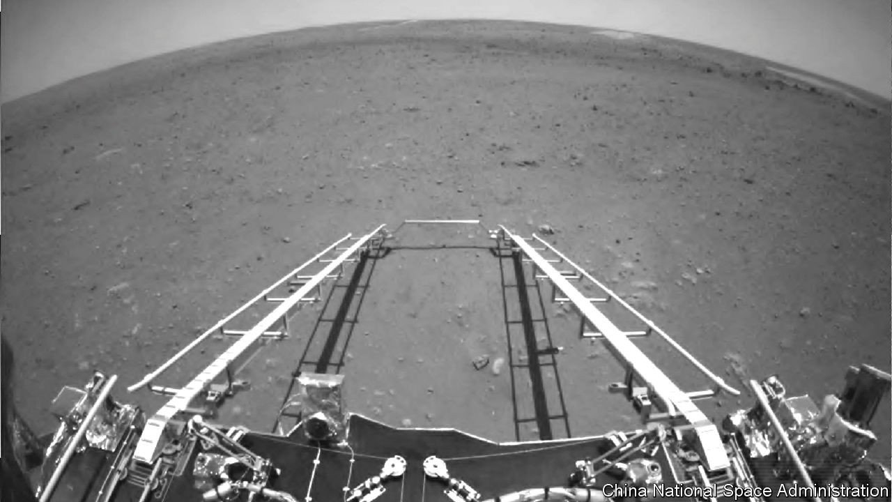 China Mars Rover Zhurong releases images of Mars, starts roaming the Red Planet