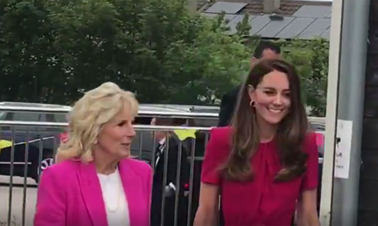 Kate Middleton teams up with Jill Biden in Cornwall - best photos