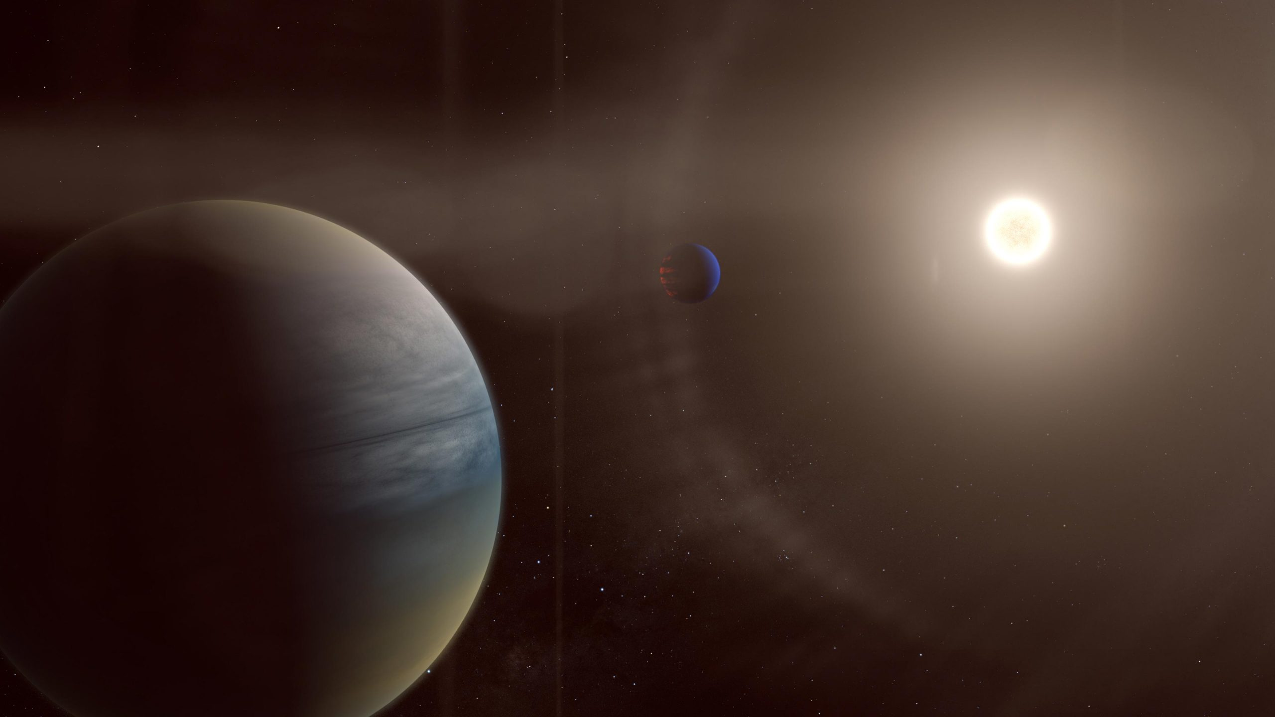 Out of This World Discovery by Citizen Scientists: Two Gaseous Planets Around a Bright Sun-Like Star