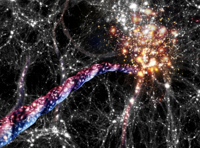 The Largest Rotating Objects in the Universe: Galactic Filaments Hundreds of Millions of Light-Years Long