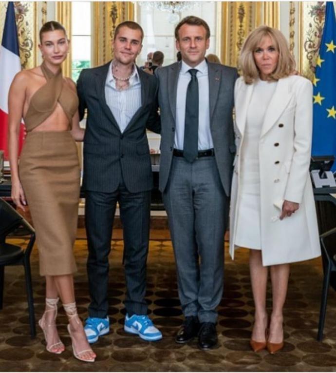 小贾斯汀见法国总统 老婆晒身材惨被骂