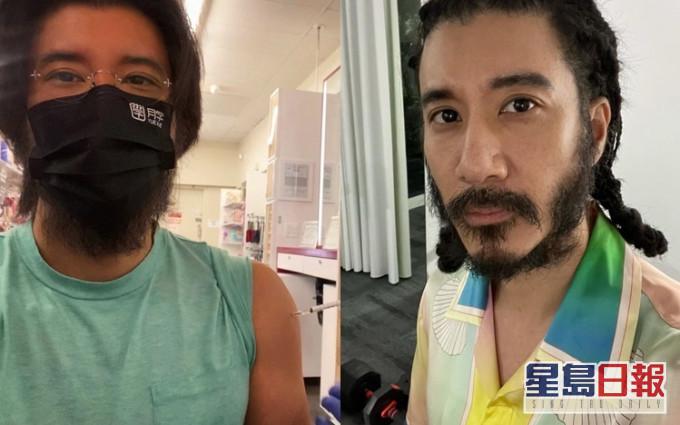 晒颓Look宣佈接种第二剂疫苗 王力宏鬍鬚「炸」出口罩成亮点