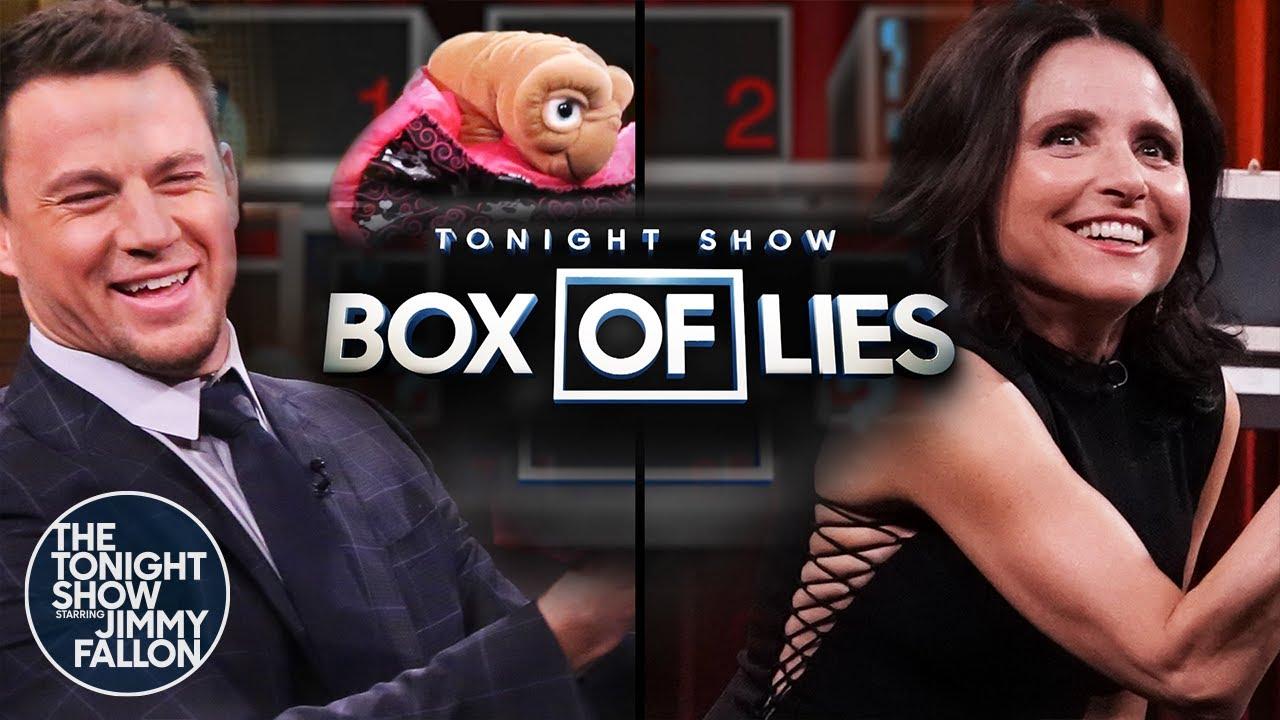 Tonight Show Box of Lies with Channing TatumandJulia Louis-Dreyfus