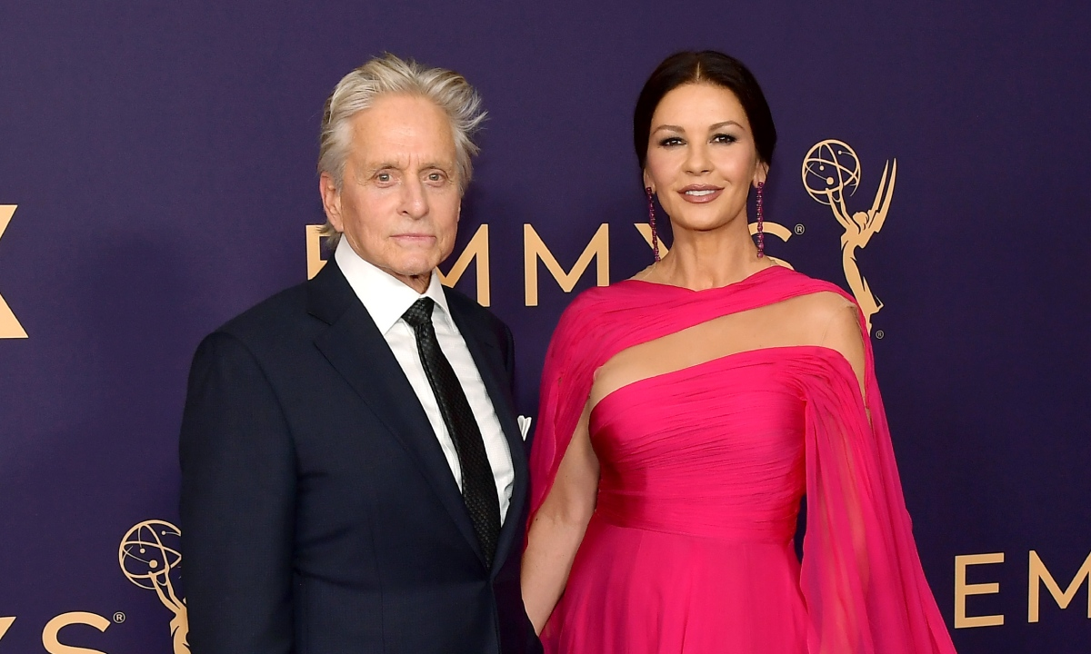 Catherine Zeta-Jones shares romantic selfies with husband Michael Douglas