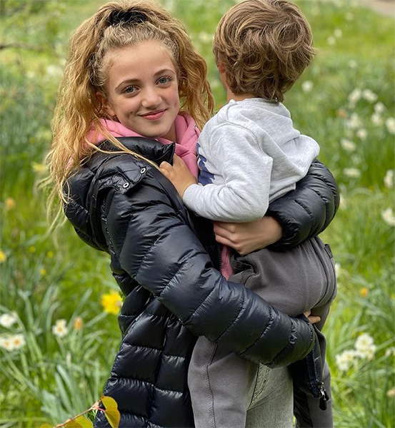 Peter Andre's daughter Princess shows her close bond with brother Harvey
