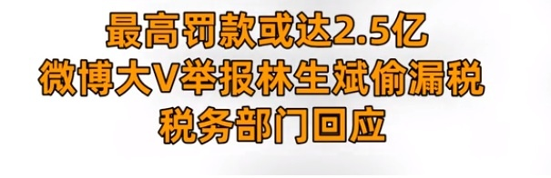 林生斌或将面临罚款,最高处罚达到2.5亿,关联公司一共13家