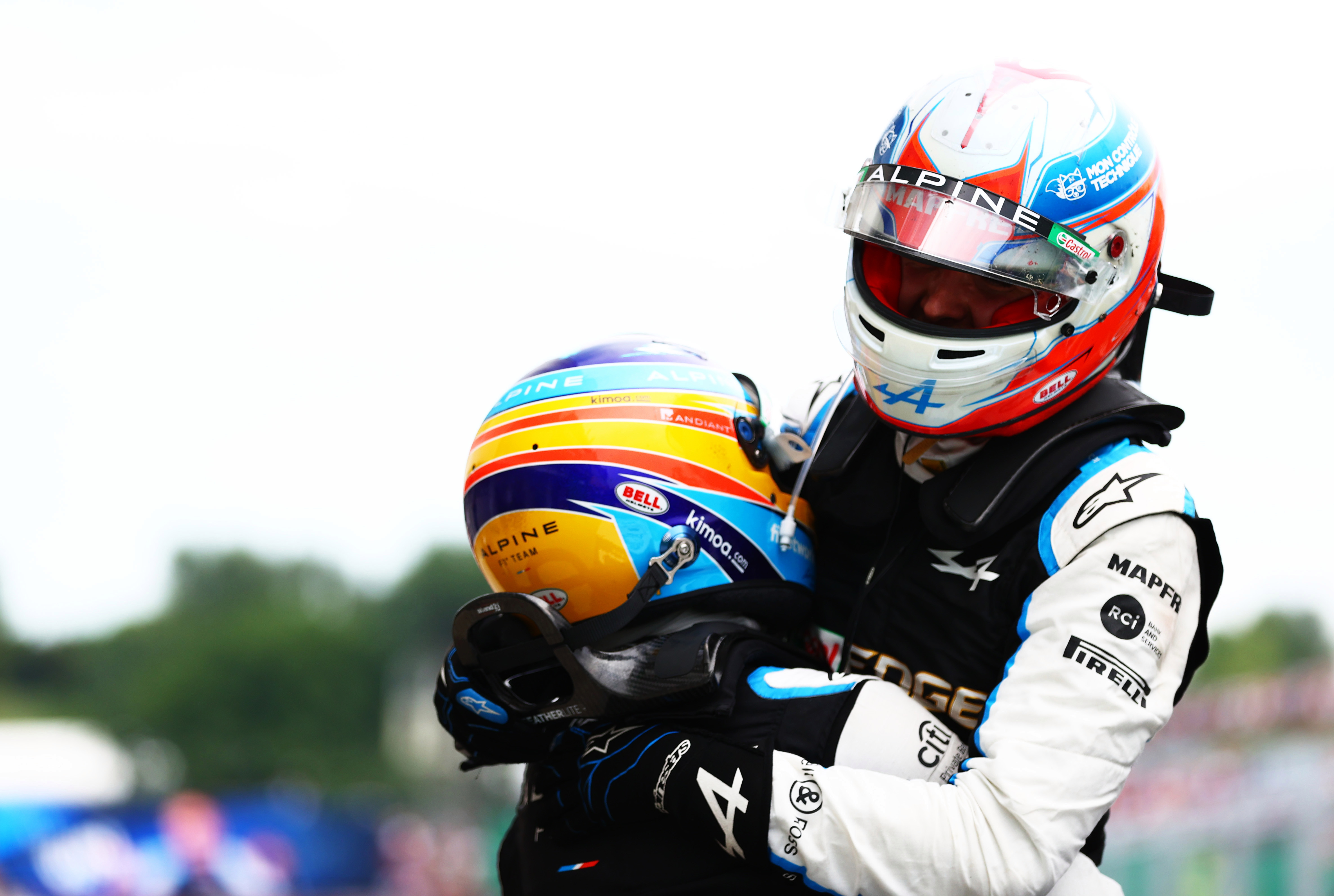 Esteban Ocon took the F1 flag but it was Fernando Alonso who sealed victory