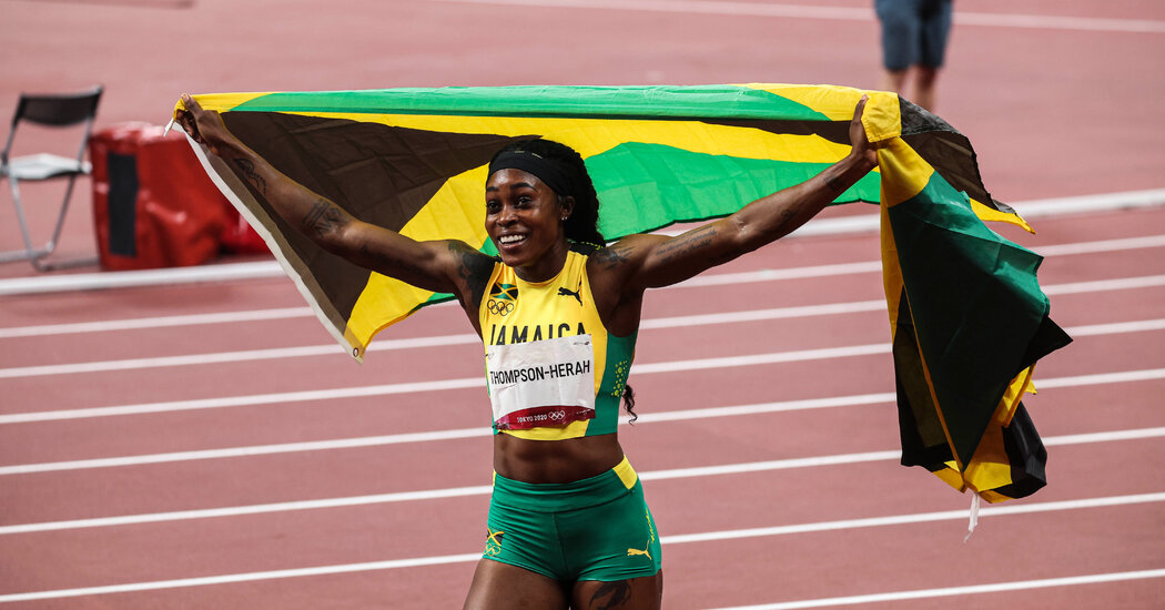 Elaine Thompson-Herah wins her second gold in Tokyo.