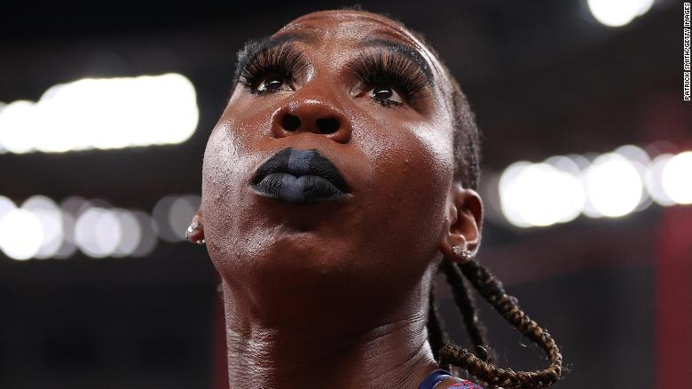 'I'm just here to represent,' says US athlete Gwen Berry after raising her fist at Tokyo 2020