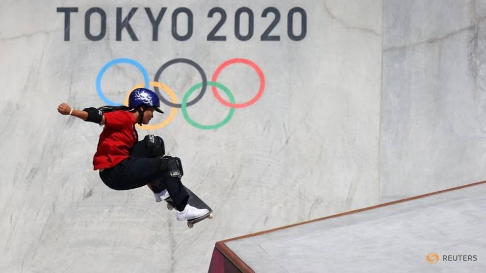 Olympics-Skateboarding-Japan's Yosozumi wins gold at women's park skateboarding