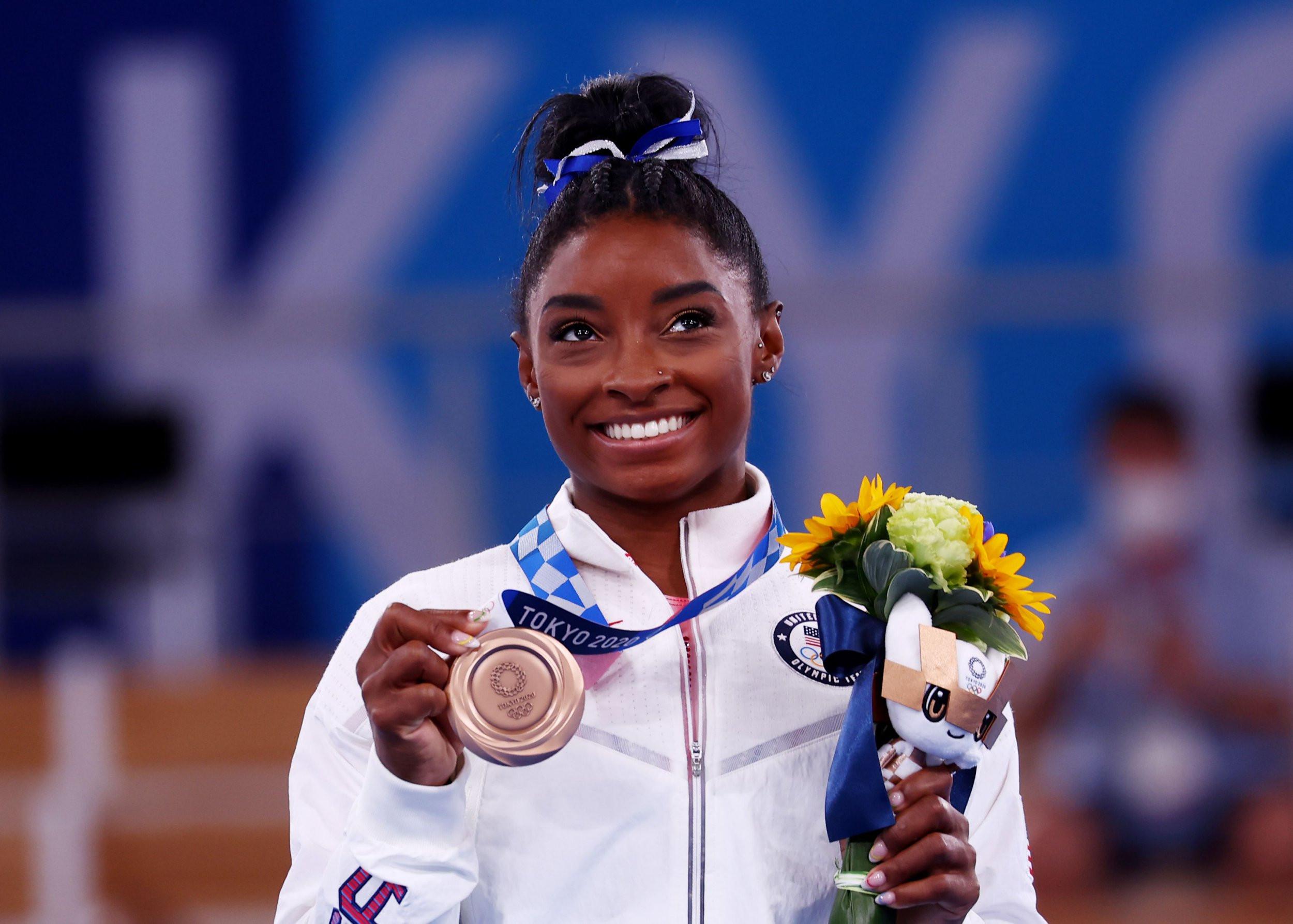 Simone Biles reacts to balance beam bronze medal: 'It's a little bit sweeter than 2016'