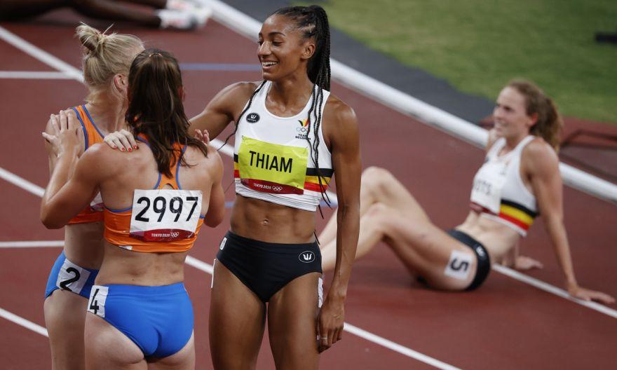 Olympics: Belgium's Nafi Thiam retains heptathlon title