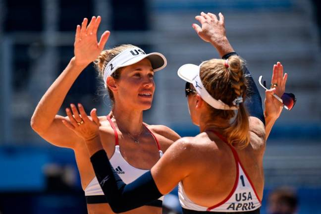 American Ross and Klineman win women's beach volleyball gold at Tokyo Olympics