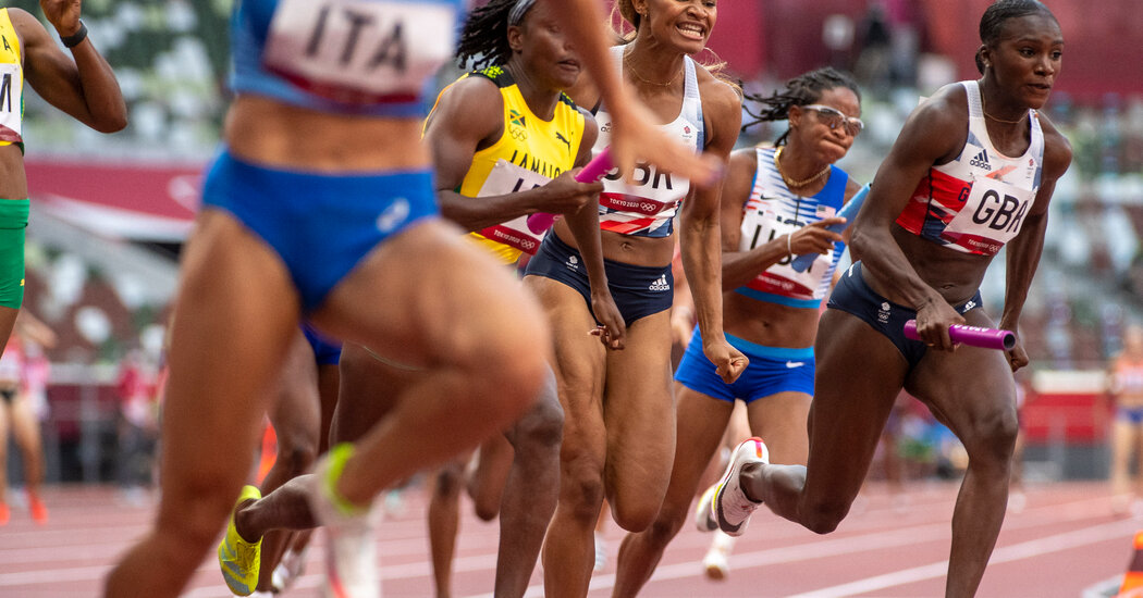U.S. basketball and volleyball play in their semifinals, and the 4x100 relay teams take to the track.