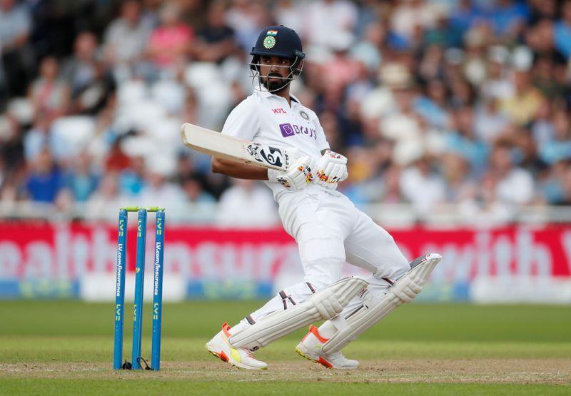 Cricket-Rahul and Jadeja give India handy lead in wet Nottingham