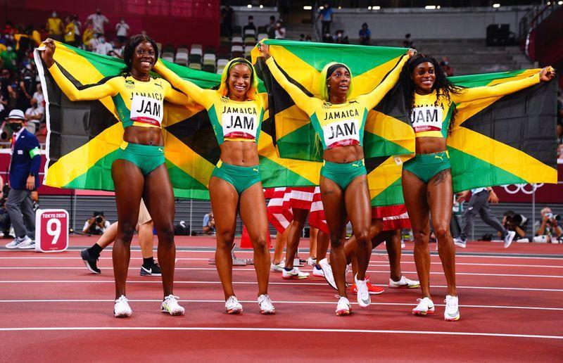 Olympics-Athletics-Jamaican women underline sprint dominance with big relay win