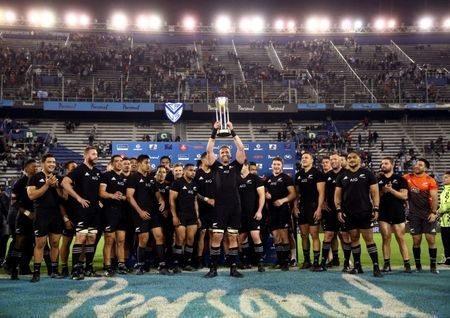 Rugby-Pressure on All Blacks to keep Eden Park record intact: Uelese
