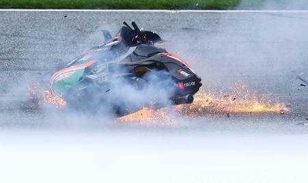 Motorcycling-Savadori has surgery after fiery MotoGP crash