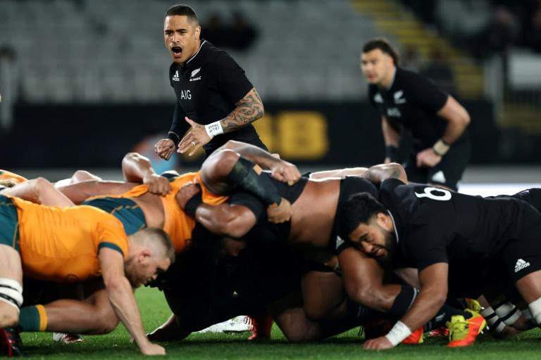 All Blacks retain Bledisloe Cup with record victory over Wallabies