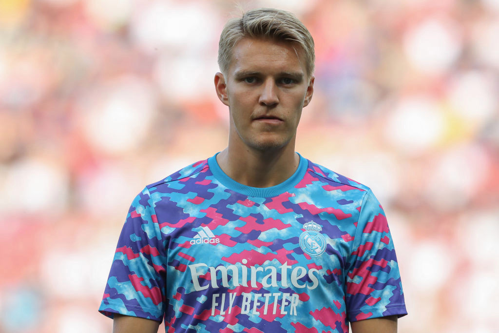 Arsenal target Martin Odegaard not registered by Real Madrid or given shirt number