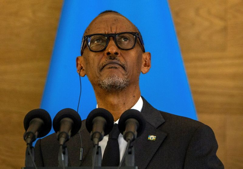 Soccer-Rwanda president takes time out to blast Arsenal over Brentford loss