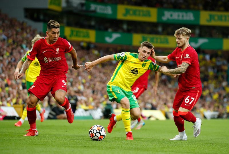 Soccer-Liverpool condemn homophobic chants aimed at Norwich's Gilmour