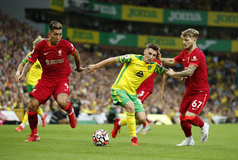 Liverpool condemn homophobic chants aimed at Norwich's Gilmour