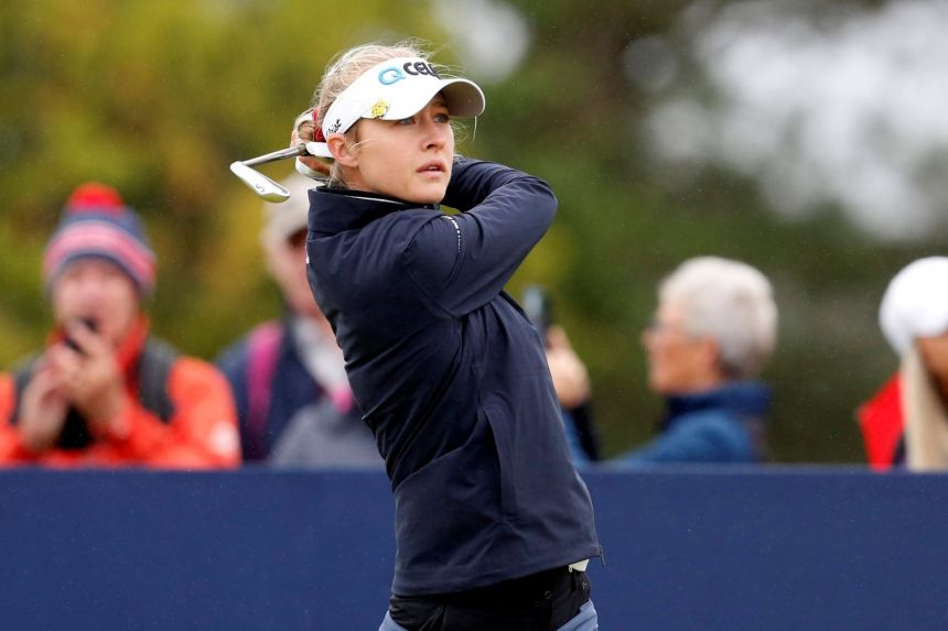 Golf: Nelly Korda, Sagstrom and Kim share women's Open lead