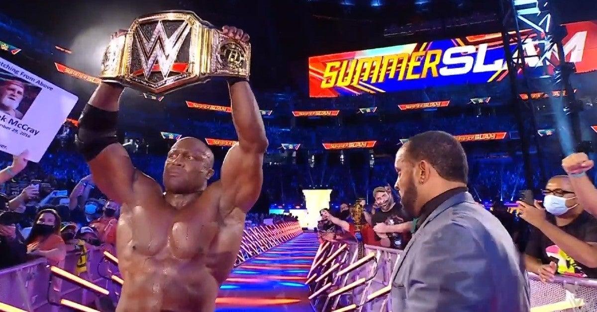 WWE SummerSlam: Bobby Lashley Injures Goldberg's Knee, Forces Referee Stoppage, Attacks Son