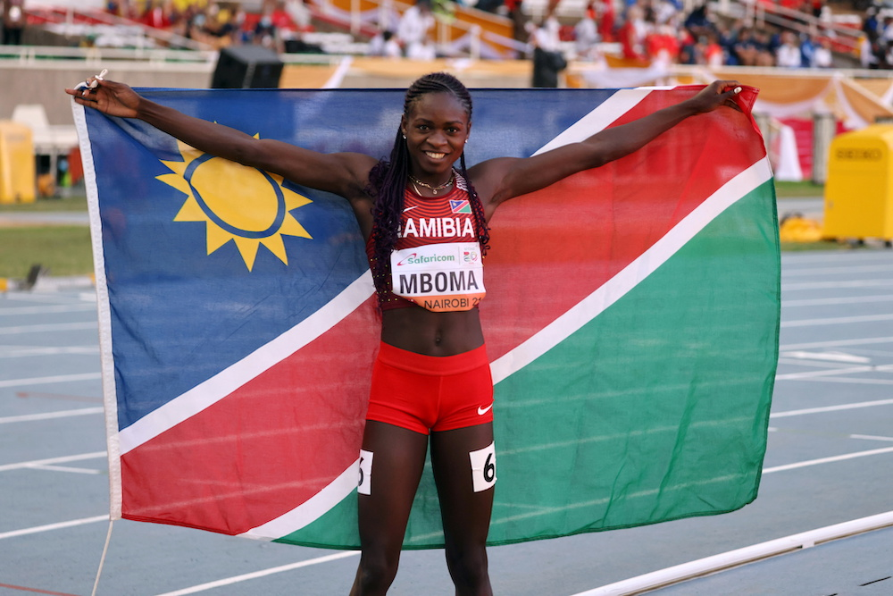 Mboma shrugs off controversy to grab 200m U20 gold in world record time