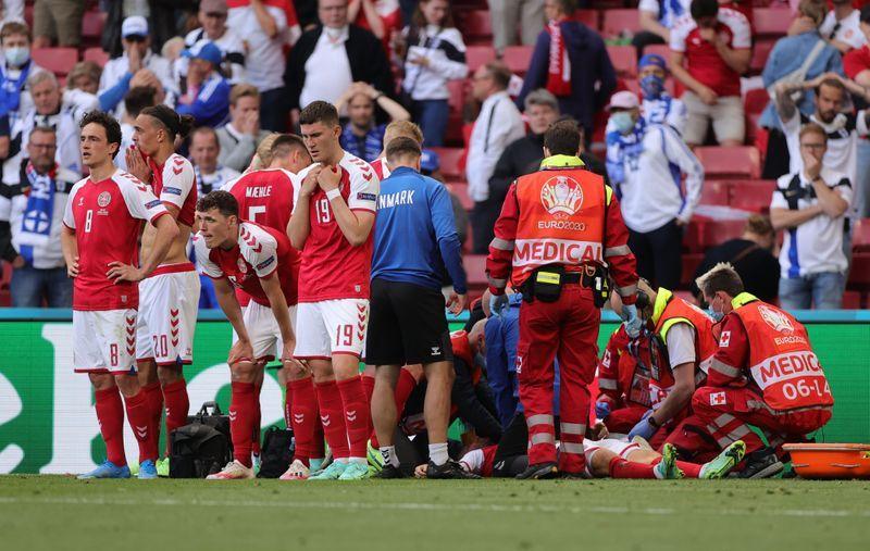 Soccer-Medics who saved Eriksen at Euros to receive UEFA President's Award