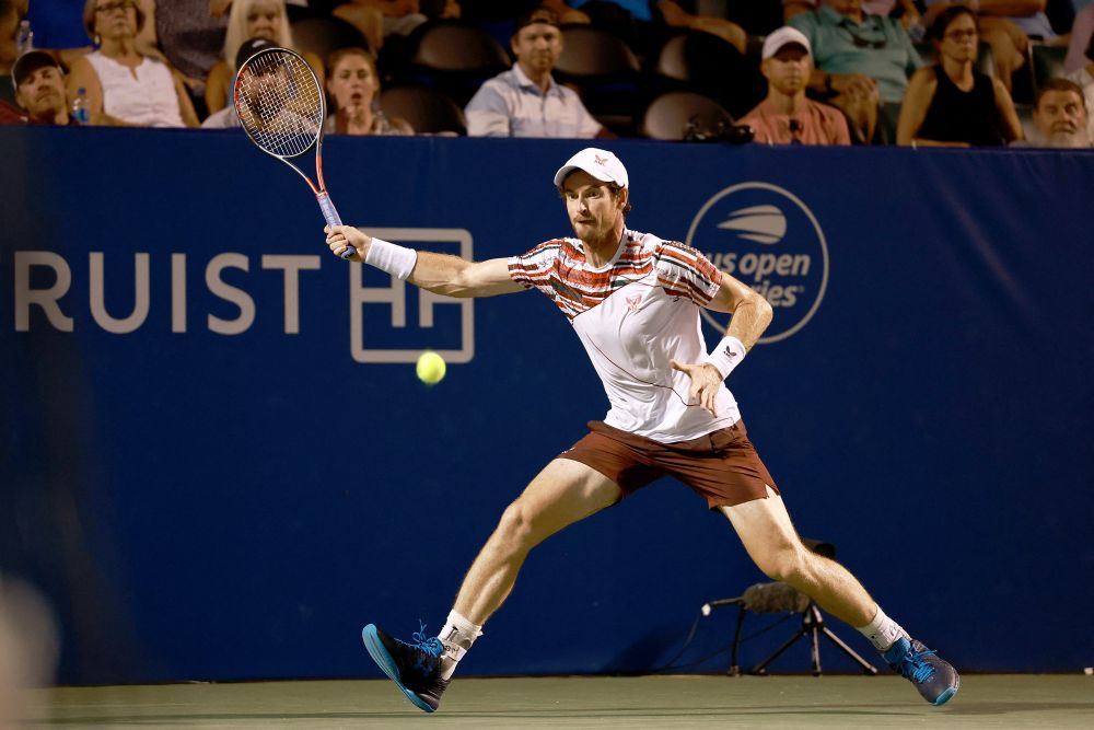 Murray eliminated in second round at Winston-Salem tennis