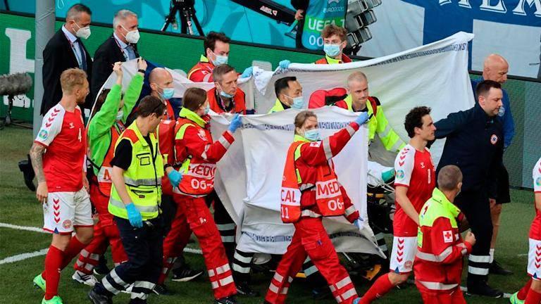 Medics who saved Eriksen at Euros to receive UEFA President's Award