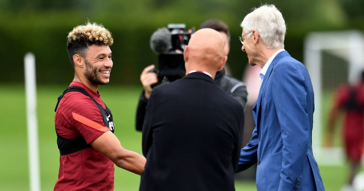 'Legend' - Liverpool fans react as Arsene Wenger pictured at Liverpool training session