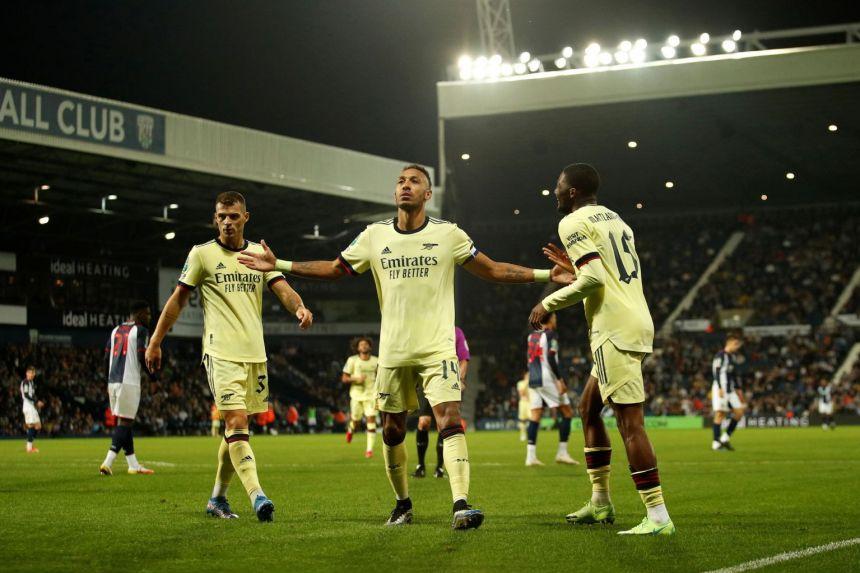 Football: Aubameyang treble lifts Arsenal gloom in League Cup