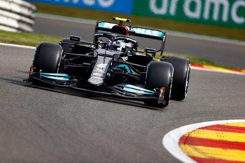 Motor racing-Bottas sets early practice pace in Belgium ahead of Verstappen, Hamilton 18th