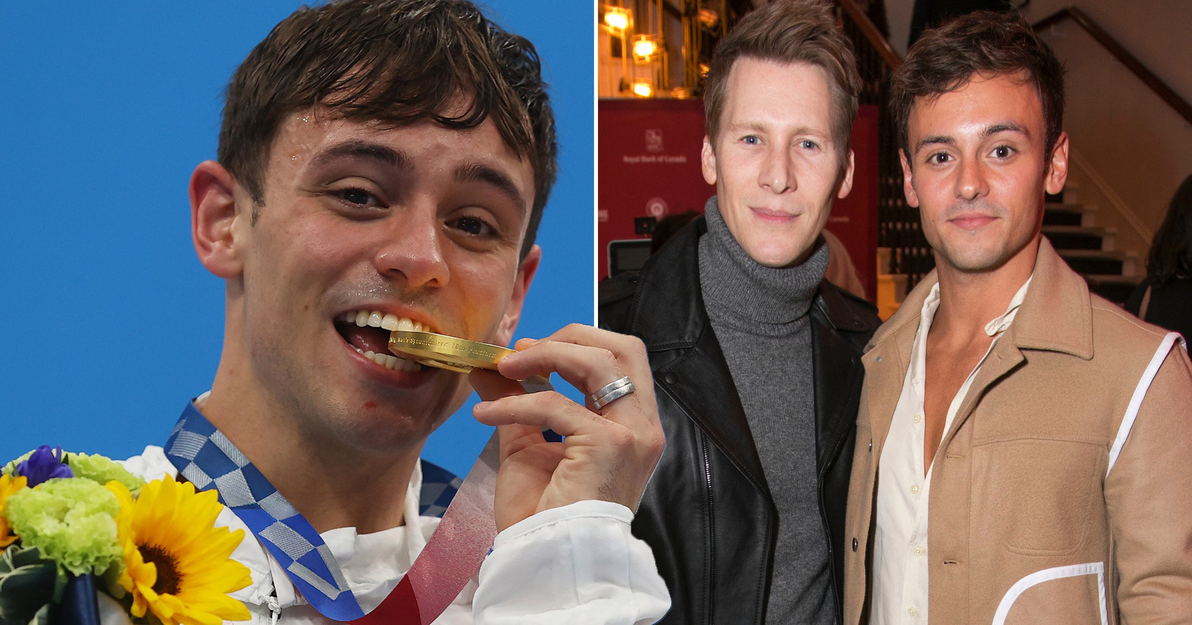 Tom Daley explores Canada with son Robbie as he reunites with family after Olympics glory